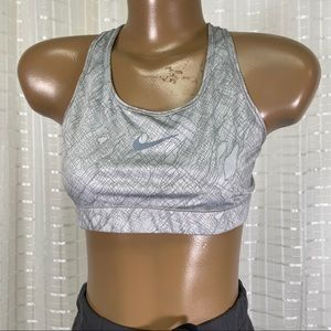 Nike Grey Active Athletic Sports Bra